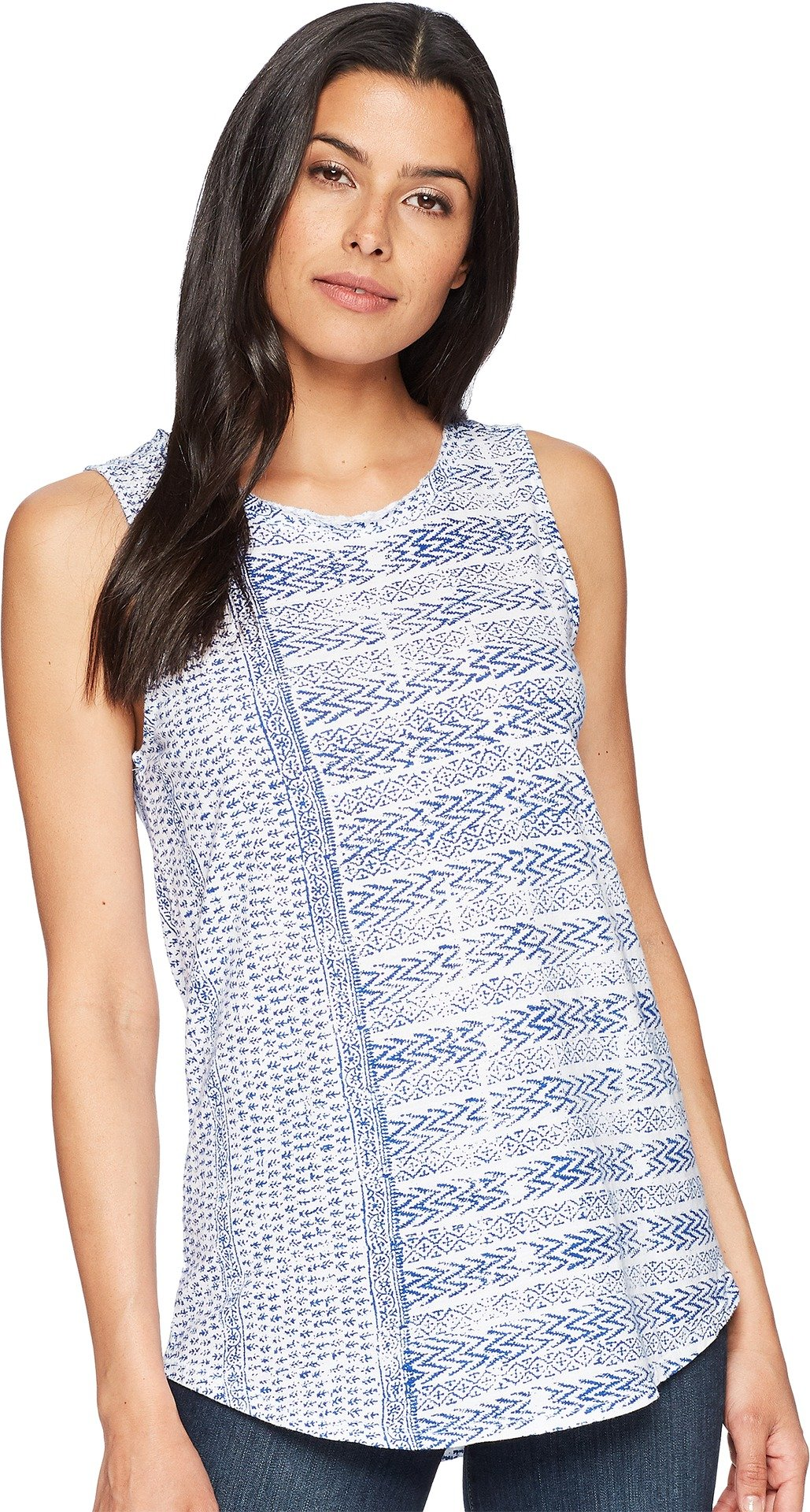 Lucky Brand Women's All Over Printed Tank Top, Blue/Multi, S