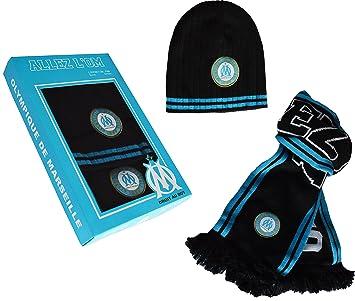 c9482873cb67 Coffret Echarpe + bonnet OM - Collection officielle Olympique de MARSEILLE
