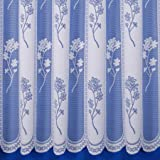 """Juniper Net Curtain in White. 36"""" Drop. Sold by the Metre"""