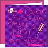 Cousin 50th Happy Birthday Card