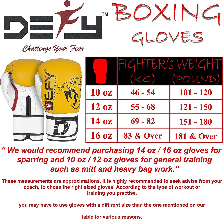 Fighting Gloves Tiger Model Sparring Kickboxing DEFY Boxing Gloves for Men /& Women Training MMA Muay Thai Premium Quality Gloves for Punching Heavy Bags