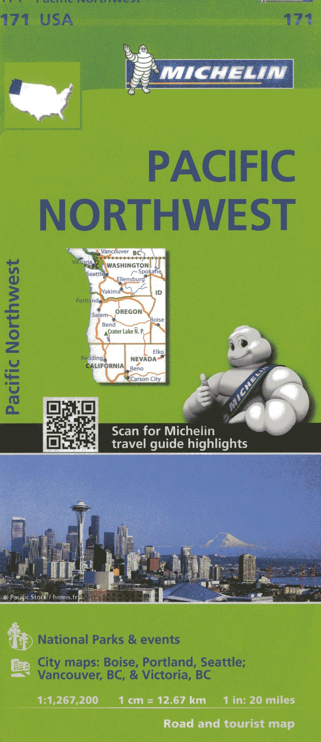 Michelin USA Pacific Northwest Map  Michelin Zoom USA Maps - Map of usa for sale