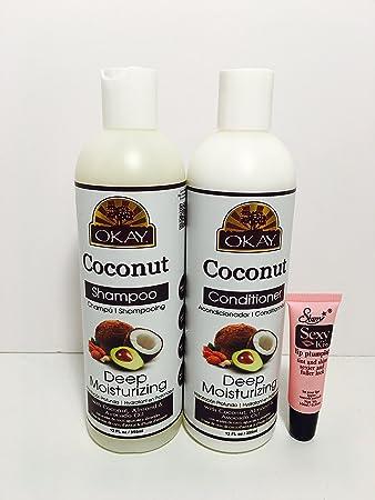 amazon com okay coconut oil deep moisturizing shampoo