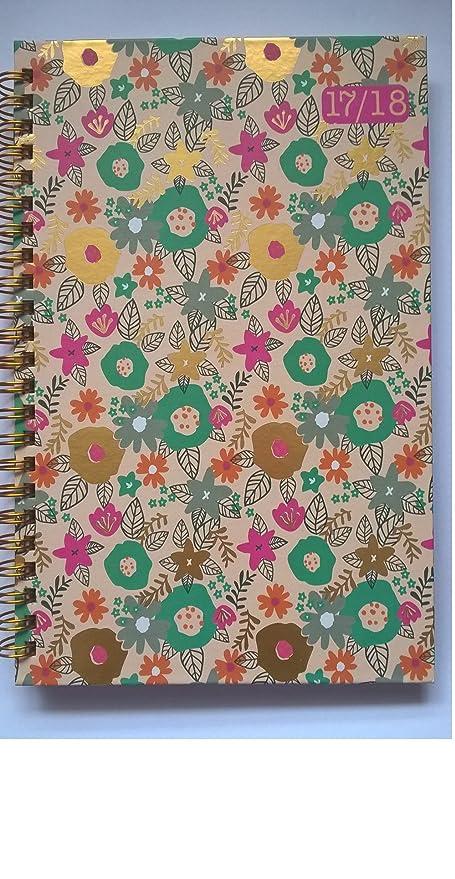 Diario, con diseño floral de popurri, agenda 2017– 2018 ...