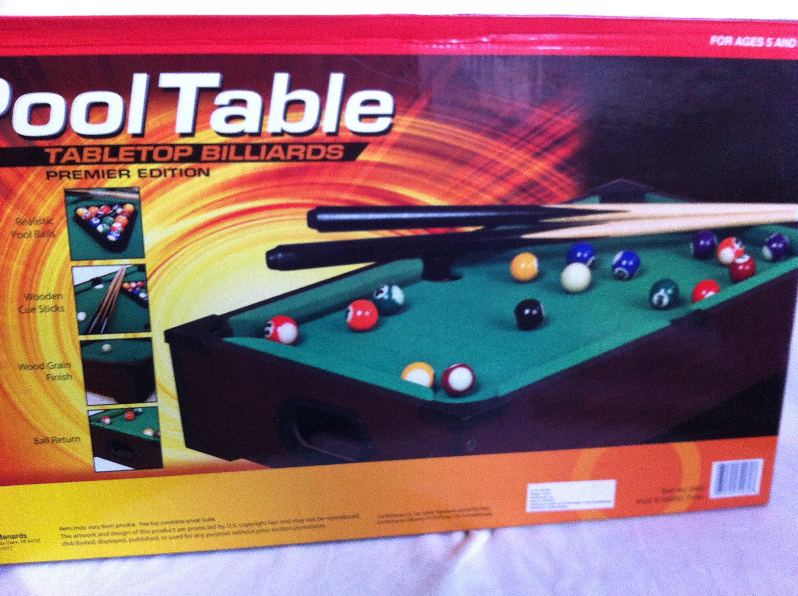 POOL TABLE TABLETOP BILLIARDS PREMIER EDITION