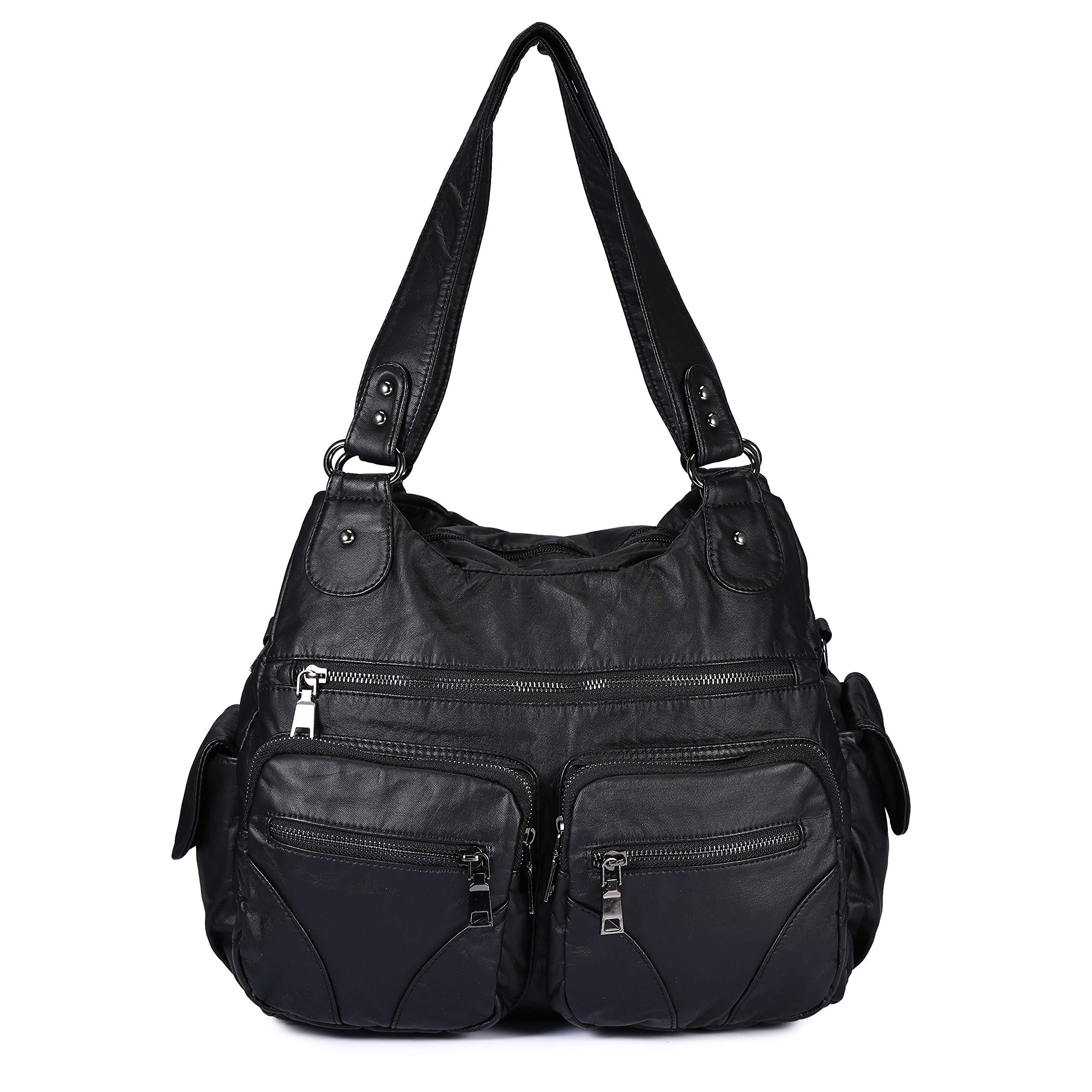 Women Handbag Soft Leather Purse Large Capacity Tote Bag Crossbody Shoulder Bag for Ladies