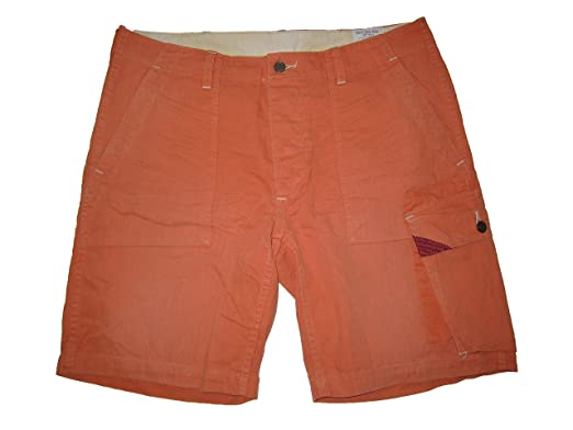 f843a18b50df2 ... spain ralph lauren polo mens weathered expedition cargo shorts 35  orange 3090f 99927