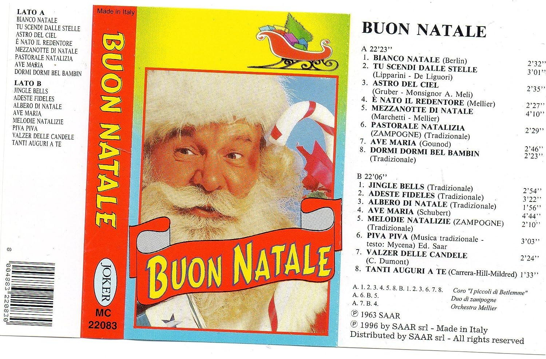 Buon Natale Del C Testo.Amazon Com Audio Cassette Buon Natale Joker Mc 22083 Made In