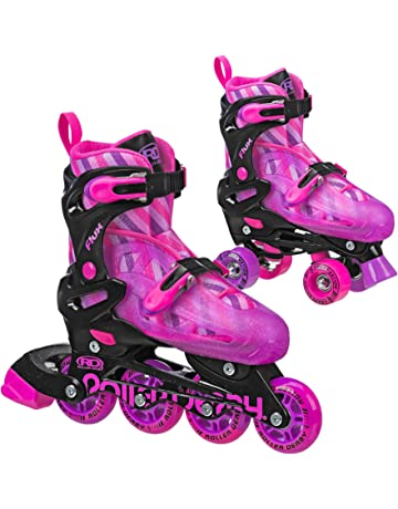 0bbb76c6ed7 Roller Derby Kids Roller Skates with Interchangable Inline and Quad  SkatesCombination Great for Beginners