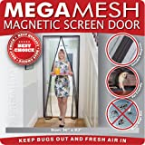 Magnetic Screen Door  Heavy Duty Mesh & Velcro Fits Doors Up to 34x82 MegaMesh Comes With a 12 Month Warranty