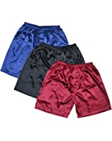 TONY & CANDICE Men's Satin Boxers Shorts Combo Pack Underwear, (3-Pack)