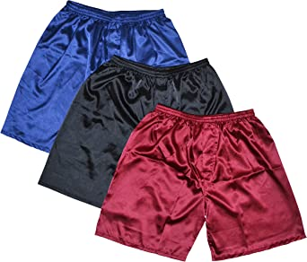 TALLA L. Tony & CANDICE Satin tipo bóxer para hombre pantalones cortos de hombres Combo Pack–Ropa interior, (3unidades)