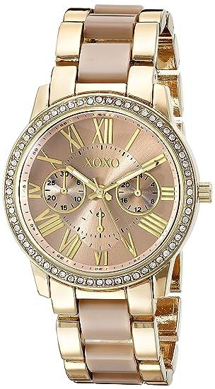 79e2d1f2740c Amazon.com  XOXO Women s Analog Watch with Gold-Tone Case
