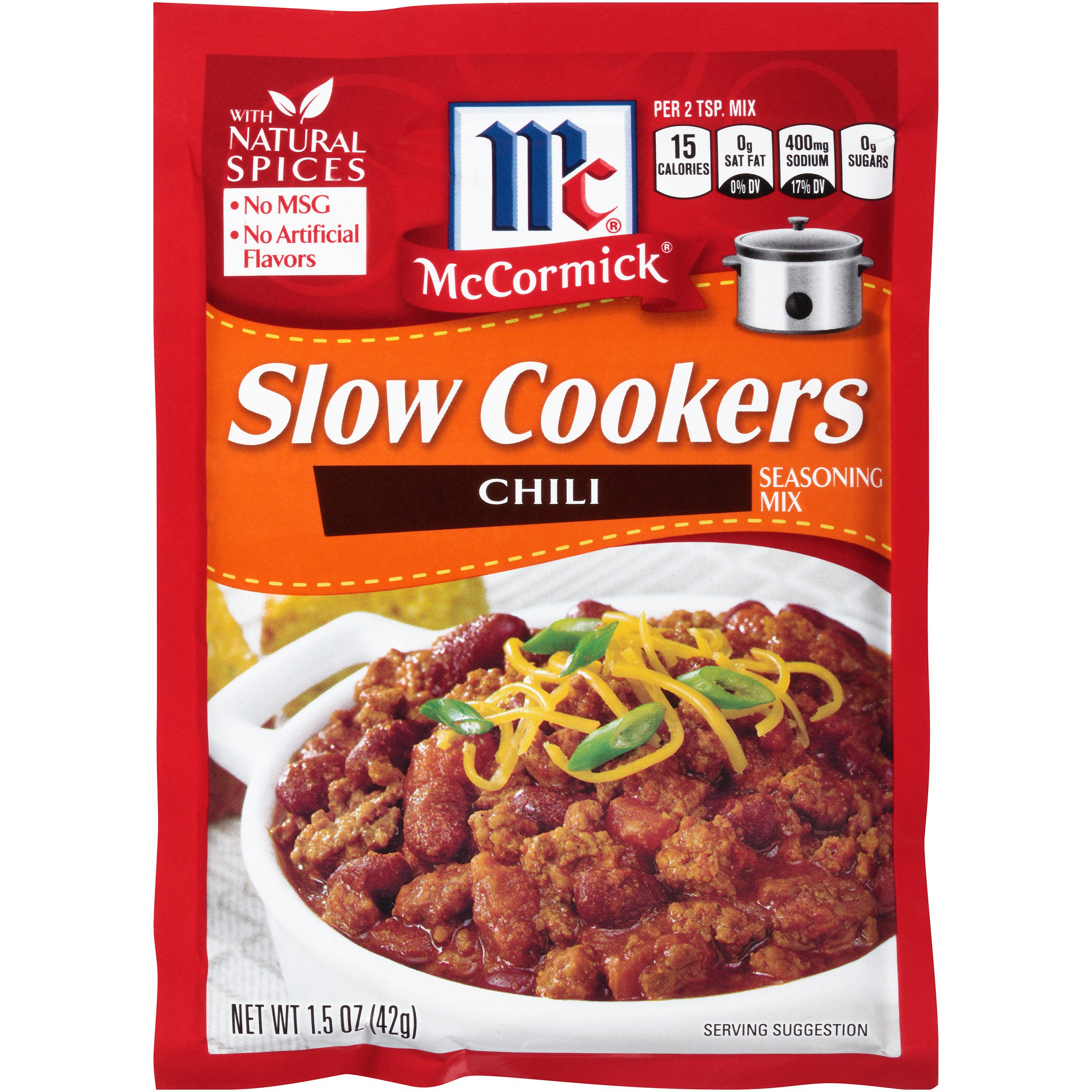 McCormick Slow Cookers Chili Seasoning Mix, 1.5 oz by McCormick (Image #1)