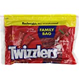 TWIZZLERS Twists, Strawberry Flavored  Licorice Candy, 24 Ounce Resealable Pouch (Pack of 6)