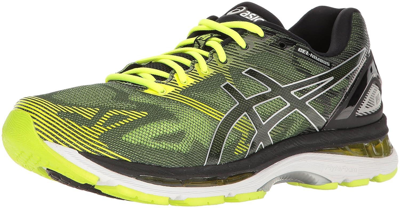 ASICS Men's Gel-Nimbus 19 Running Shoe B01GST3YY0 13 D(M) US|Black/Safety Yellow/Silver