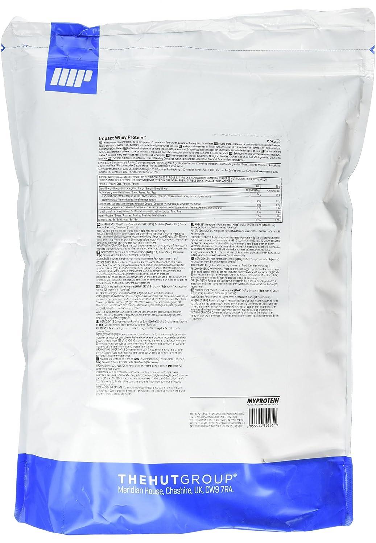 MyProtein Impact Whey Proteína de Suero, Sabor Chocolate y Nueces - 2500 gr: Amazon.es: Salud y cuidado personal