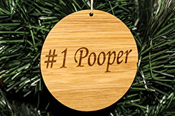 Amazon.com: Funny Christmas Tree Ornaments For Adults (#1 Pooper ...