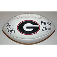$124 » Vince Dooley Signed Autographed Auto UGA Georgia Bulldogs Logo Football w/1980 Natl Champs - Proof