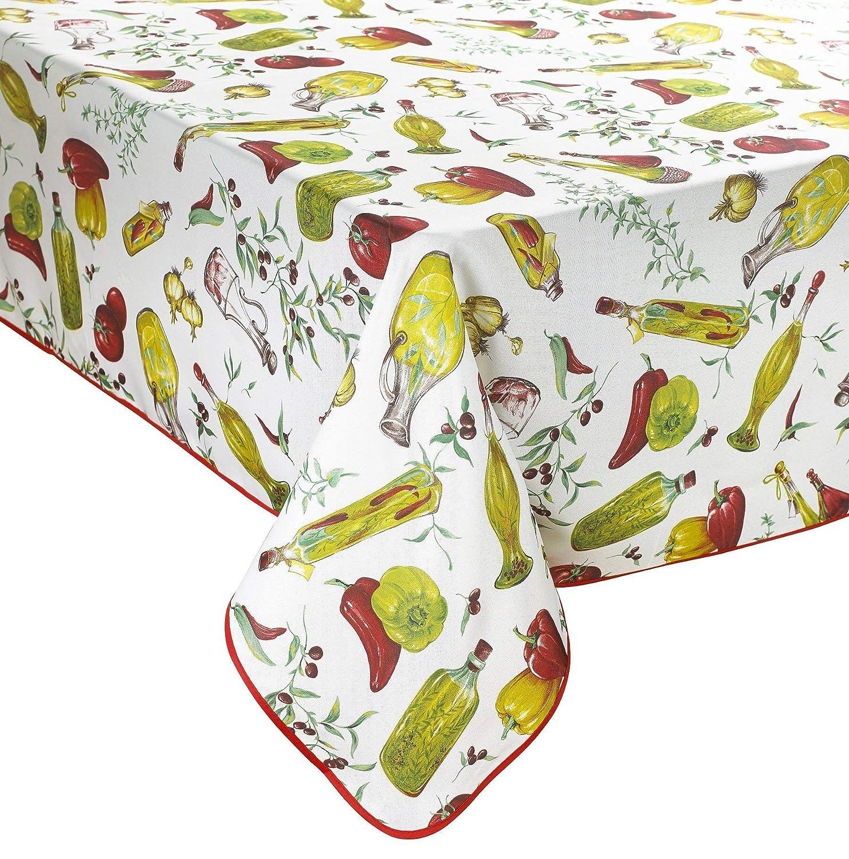 Violet Linen Classic Euro Temptations Large Vegetables Design Tablecloth 52 x 70 52 x 70 VL-80639-EURO-TMPTN-TC-2
