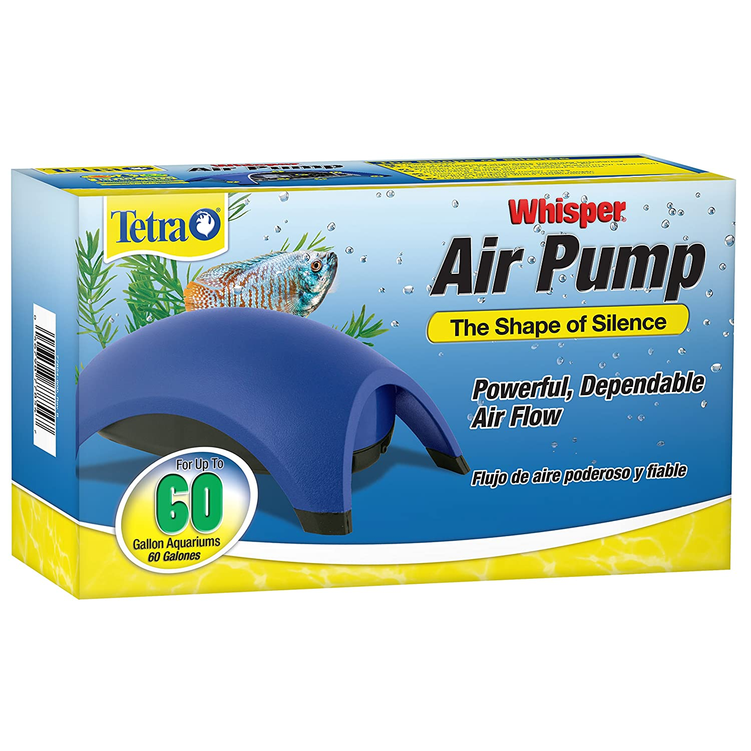 91AxwZ6ke4L._SL1500_ amazon com tetra 77851 whisper air pump, 10 gallon aquarium  at creativeand.co