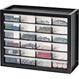 IRIS USA Parts and Hardware Cabinet, 24 Drawers, Black
