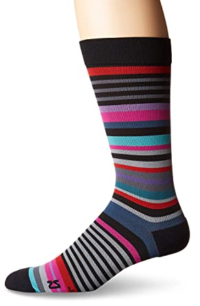 5667b905915a Men's Lifestyle Dress Socks - Performance Dress Sock Guarenteed for Life (One  Size, Black
