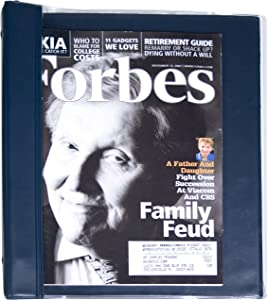 Advantus Vinyl Magazine Binder, 9.5 x 11.25 Inches, Clear Front Cover, Navy Blue Back/Spine (ANG120D)