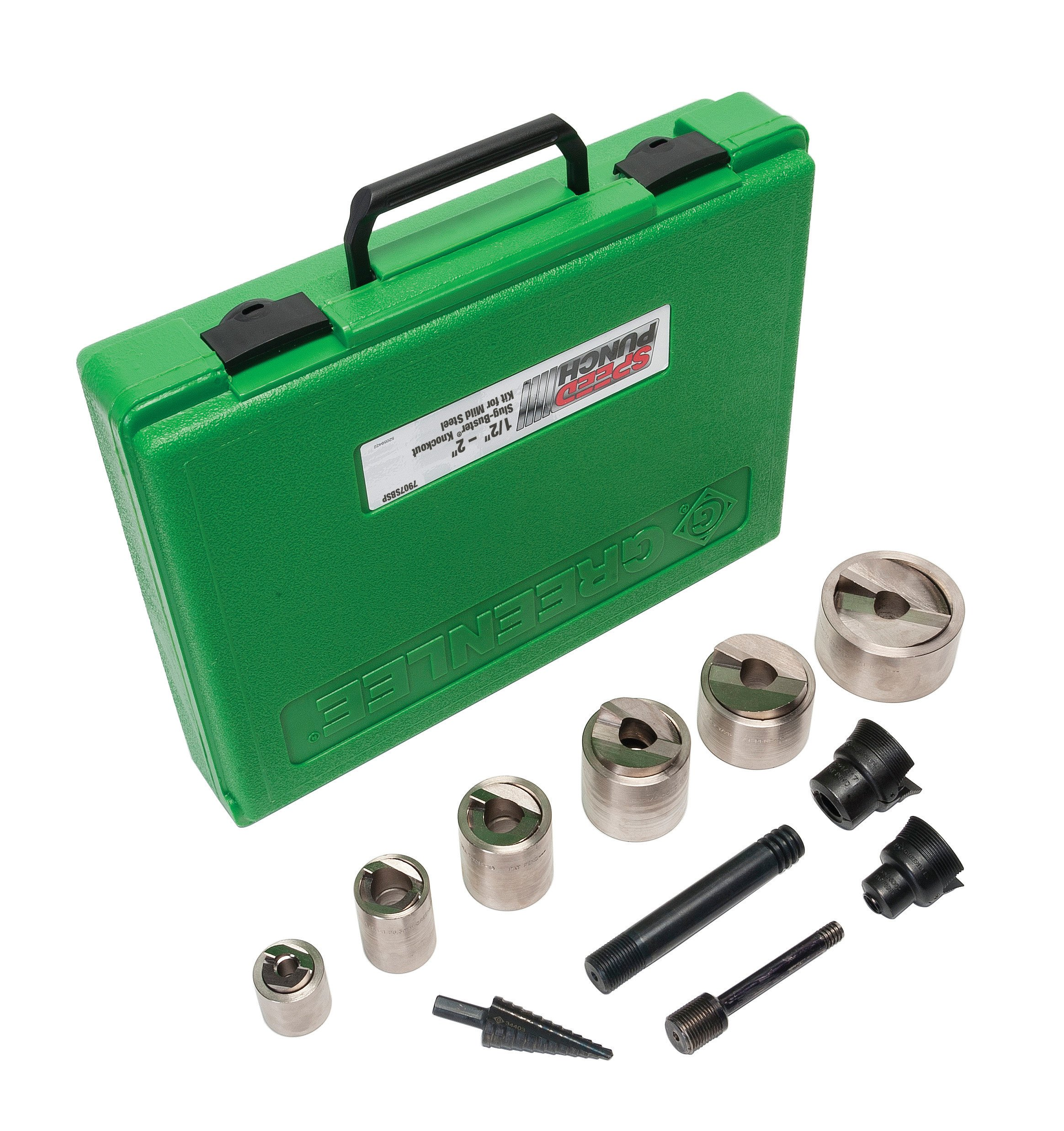 Greenlee Speed Punch 7907SBSP Kit, 1/2-Inch to 2-Inch Conduit, Mild Steel Without Driver