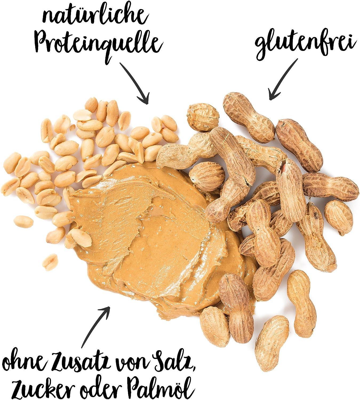 nu3 Crema de cacahuete - 1 kg Peanut Butter pura y natural - Mantequilla de maní sin sal ni azúcar - Libre de aceite de palma y conservantes ...