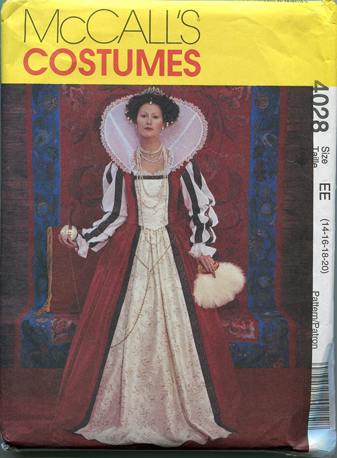 McCall's Sewing Pattern 4028 Size EE (14-16-18-20) Misses' Elizabethan Costume by McCall's   B005LAA9VO