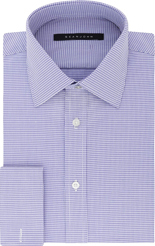 Sean John Men's Dress Regular Shirt Fit 2021 spring and summer new Las Vegas Mall Check