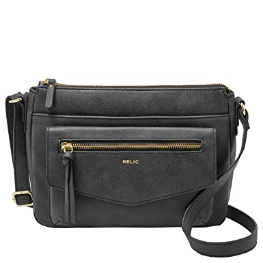 cc96f1813 Relic by Fossil Women's Allie Crossbody Handbag Purse, Color: Black ...