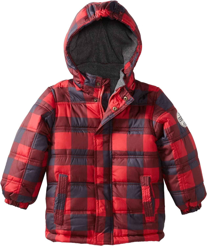 Osh Kosh Little Boys Plaid Bubble Jacket