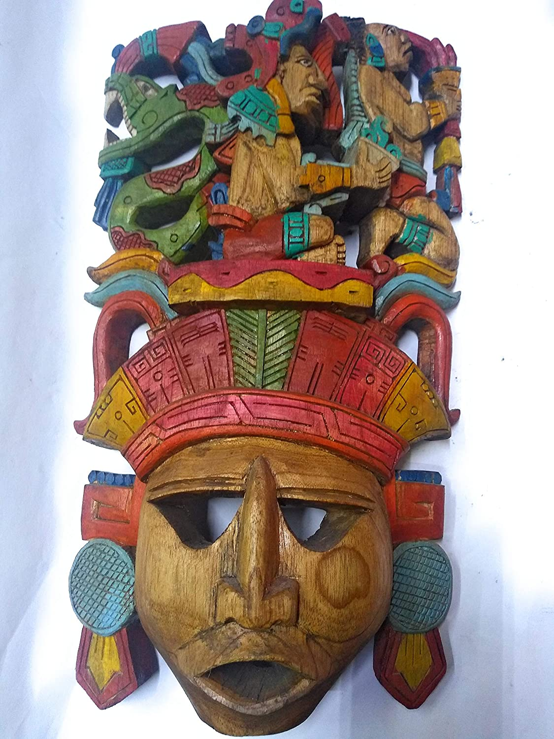 Amazon.com: Mayan mask of wood, carved by hand, life and
