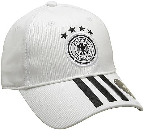 8232430f9ab adidas Kinder DFB 3-Streifen Kappe White Black OSFY  Amazon.de ...