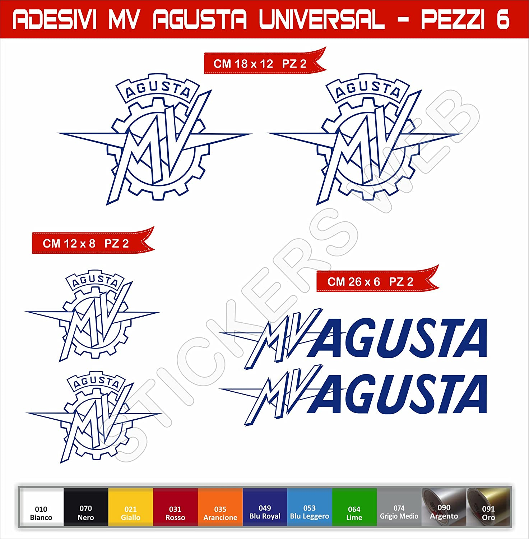 Adesivi stickers MV AGUSTA Universal kit 08 Pezzi moto motorbike Cod.0581 SCEGLI COLORE