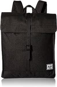 Herschel City Backpack, Black Crosshatch/Black Rubber, Mid-Volume 14.0L, City Backpack