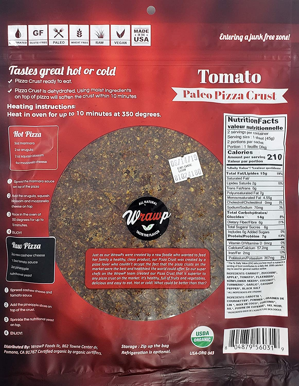 Paleo Pizza Crusts - Juego de 2 copas de pizza para tomate ...