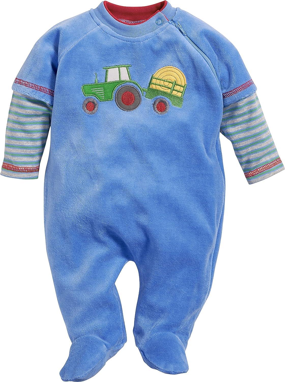 Schnizler Baby-Jungen Schlafstrampler Schlafoverall Nicki Traktor 813032