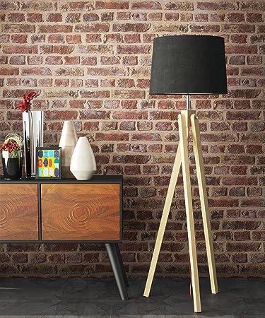 Steintapete Rot Braun Natur Stein, schöne edle Tapete im Steinmauer Design,  moderne 3D Optik für Wohnzimmer, Schlafzimmer oder Küche inkl. Newroom ...