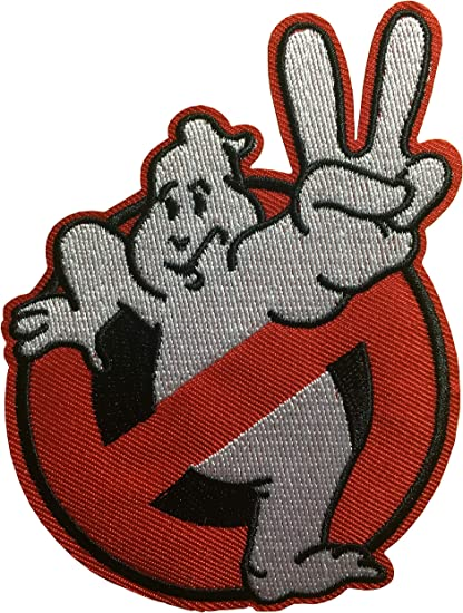 """5 GHOSTBUSTERS No Ghosts Logo Screen Accurate 4/"""" Patch Set Of Five"""