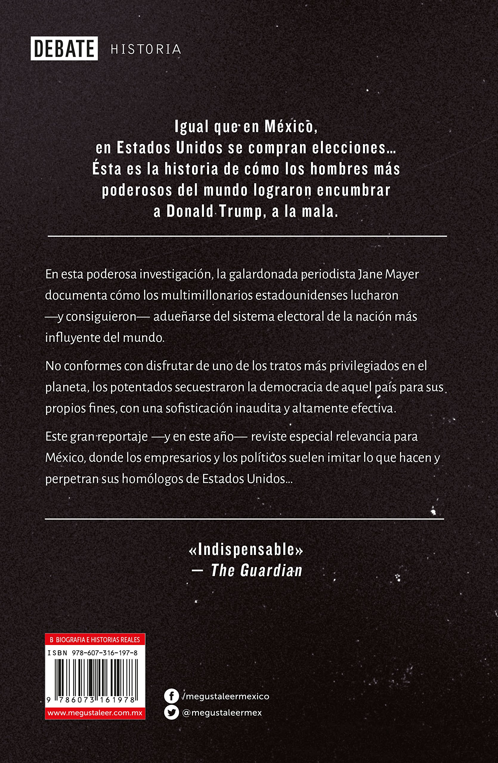 Dinero Oscuro / Dark Money (Spanish Edition): Jane Mayer ...