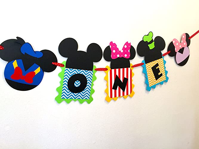Amazon Mickey Mouse Clubhouse 1st Birthday High Chair Banner Inspired