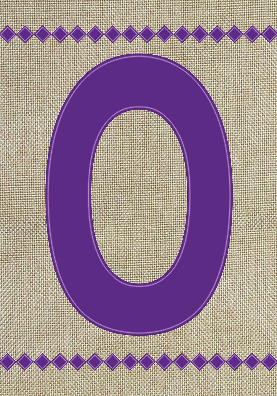 """Toland Home Garden 140024 Monogram O Burlap Flag, Garden 12.5"""" x 18"""", Letter - O"""