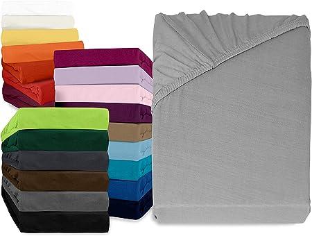 npluseins sábana Bajera clásico – 100% algodón 159.170, 90 – 100 x 200 cm, Plata: Amazon.es: Hogar
