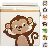 GLÜCKSWOLKE Pudełka do przechowywania dla dzieci – 15 motywów I skrzynka na zabawki z pokrywką do pokoju dziecięcego I…