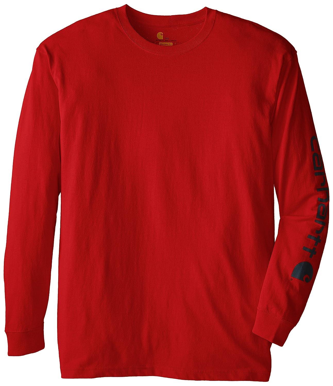 Carhartt mens Big & Tall Signature-sleeve Logo Long-sleeve T-shirt K231 Carhartt Sportswear - Mens