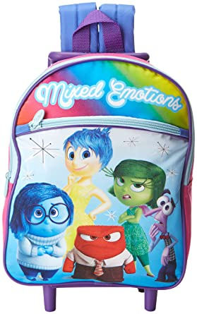 Amazon.com: Disney Girls' Inside Out 12 Inch Rolling Backpack ...