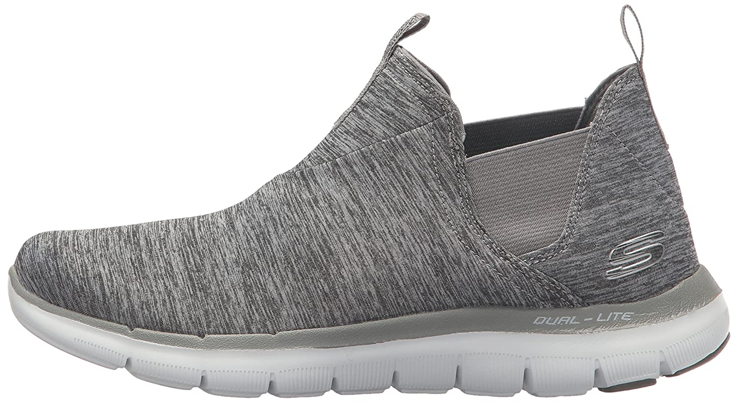 Skechers Women's Flex Appeal 2.0-High Card Sneaker B01N3V6EGS 8 B(M) US|Grey